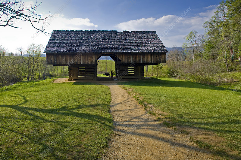 Cantilever barn, Appalachian Mountains