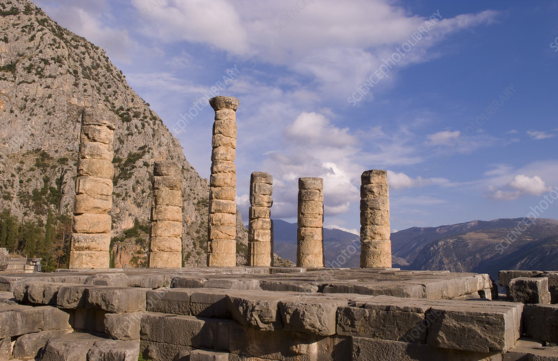 Famous Ruins of Temple of Apollo, Greece