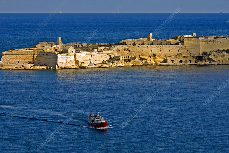 Boat and Fort in Malta