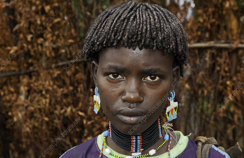 Bena Tribe Woman with Beads, Ethiopia