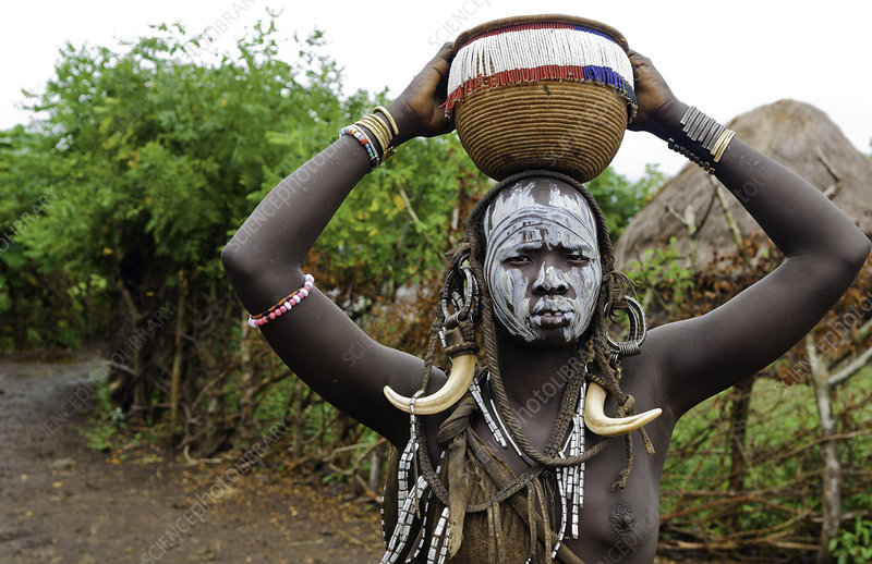 Mursi Tribal Woman, Ethiopia
