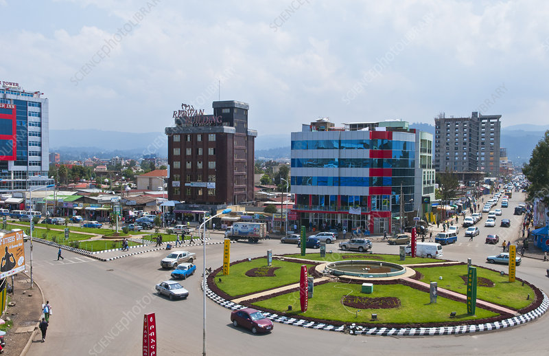 Modern City in Addis Ababa, Ethiopia