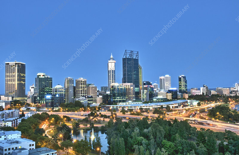 Perth Skyline at Kings Park, Australia