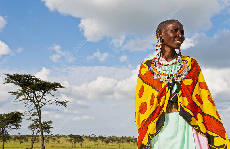 Masai Woman Smiling, Kenya