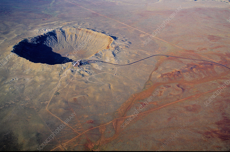 Aerial of Meteor Crater, U.S.