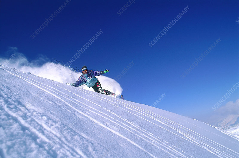 Snow Surfing in the French Alps