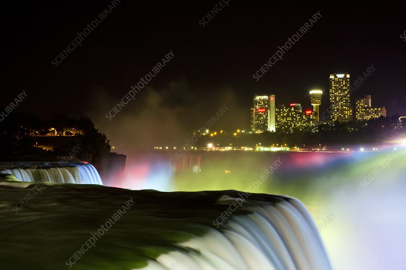 Niagara Falls at Night, Canada