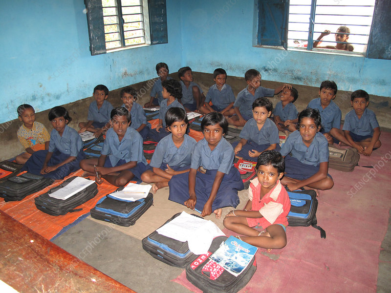 Village School Class, India