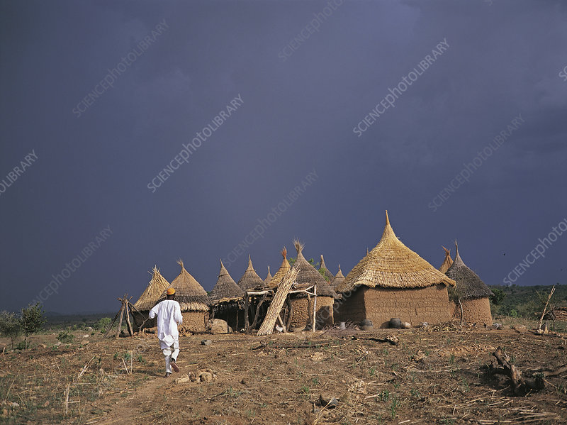 Huts in the Mandara Mountains, Cameroon
