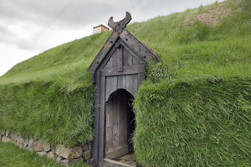 Reconstructed Turf Farm, Iceland