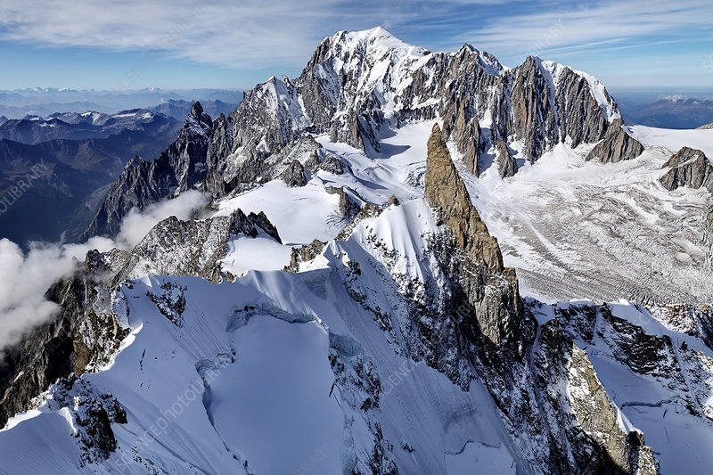 Mont Blanc and the Dent du Geant