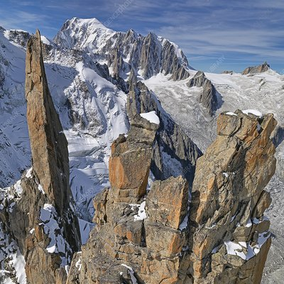 Mont Blanc and Les Periades