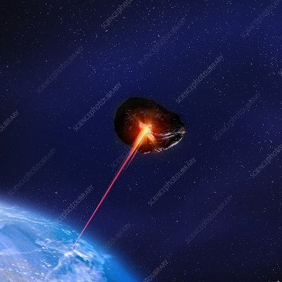 Asteroid deflection, illustration