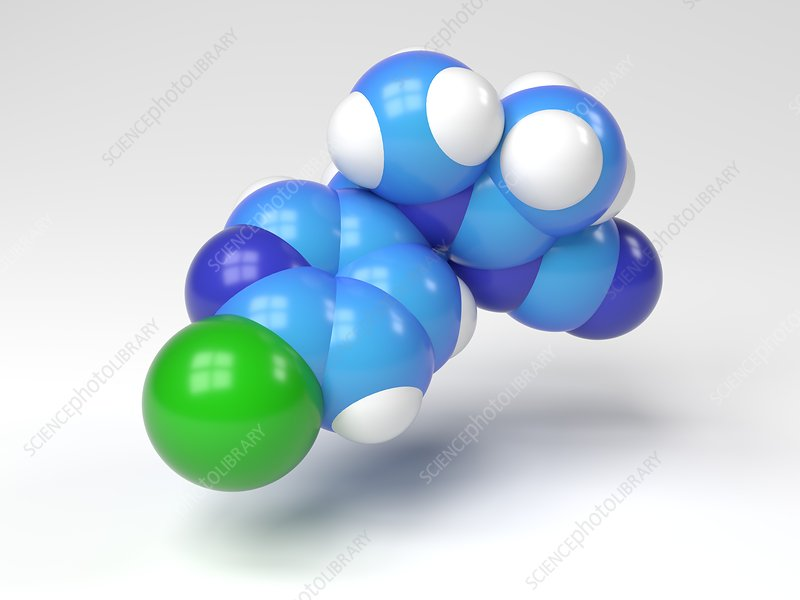 Acetamiprid molecule, Illustration