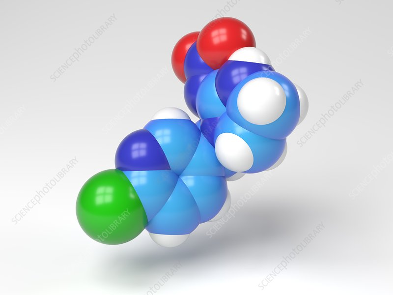Imidacloprid molecule, Illustration