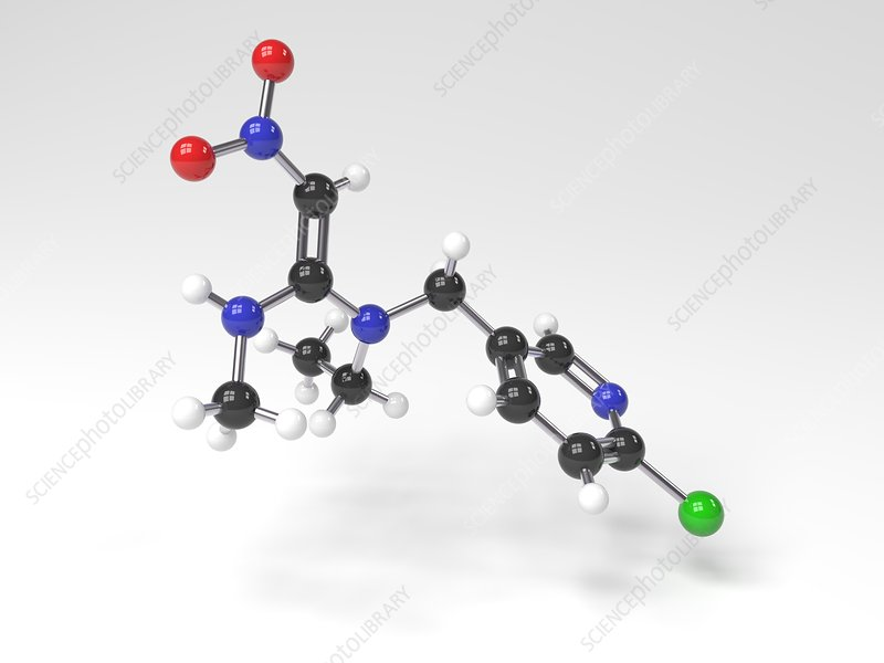 Nitenpyram molecule, Illustration