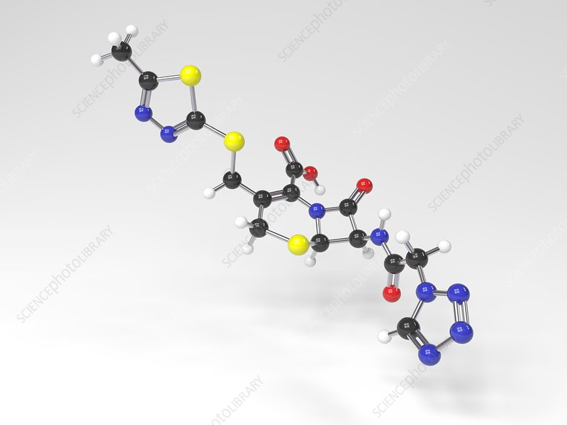 Cefazolin molecule, Illustration