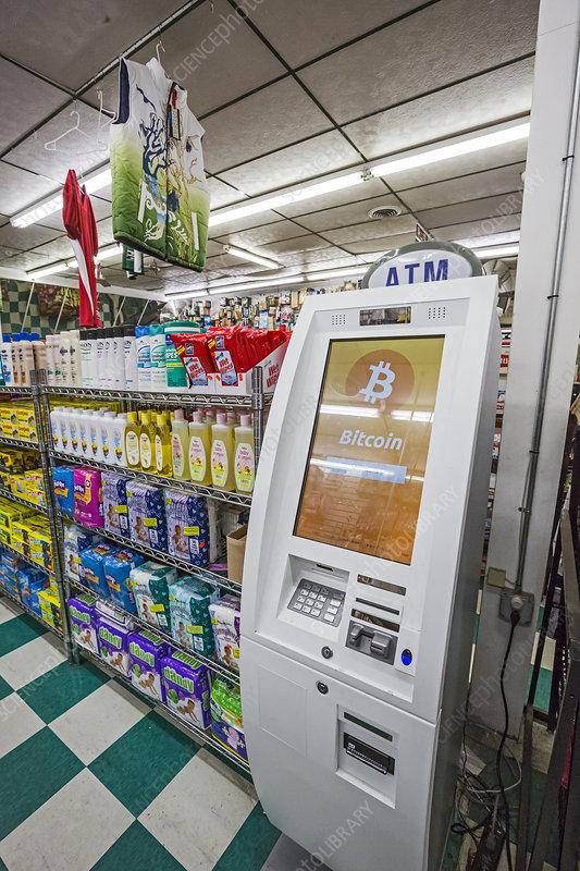 Bitcoin ATM, USA - Stock Image - C027/7641 - Science Photo ...