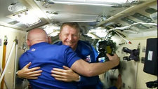 Tim Peake arriving at ISS