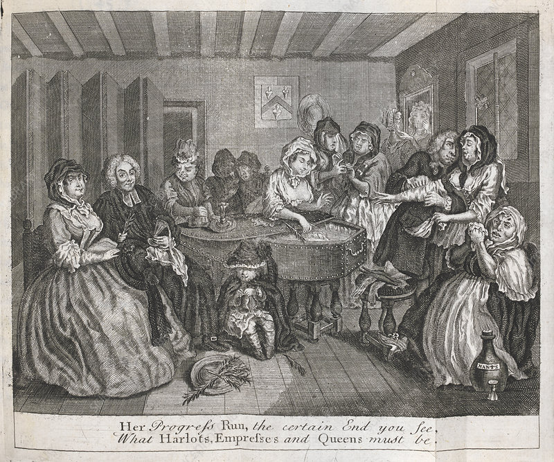 Hogarth on venereal disease, 1730s