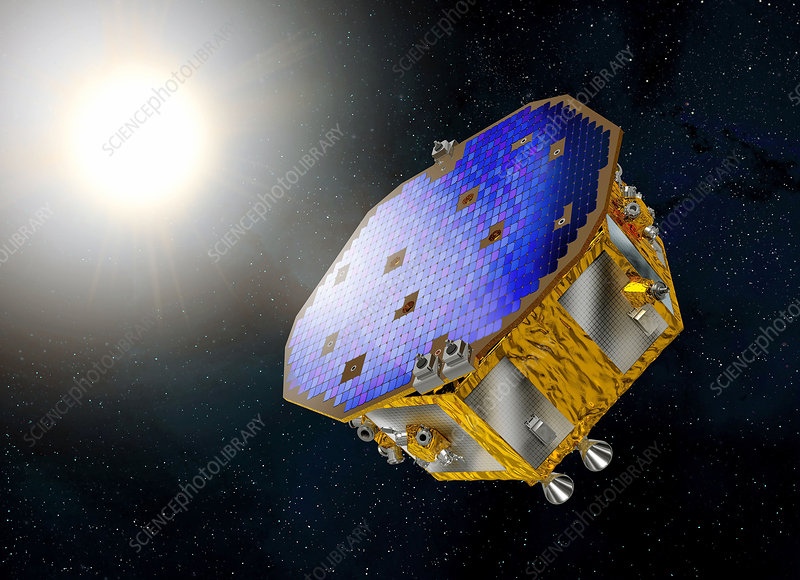 LISA Pathfinder space probe, illustration