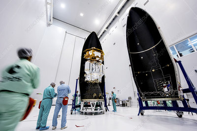 LISA Pathfinder space probe assembly