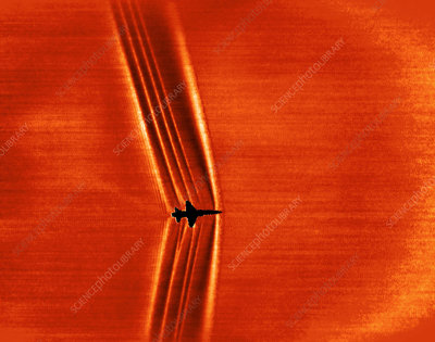 Supersonic shock waves, Schlieren image