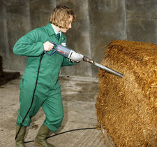 Taking Silage Core Sample