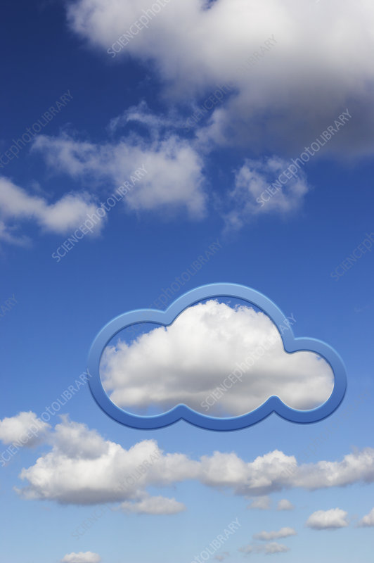 Cloud computing, illustration