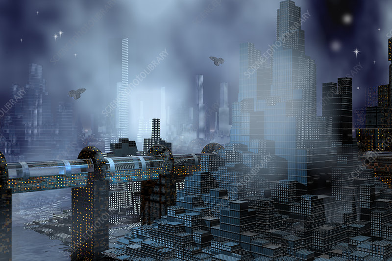 Futuristic City, illustration