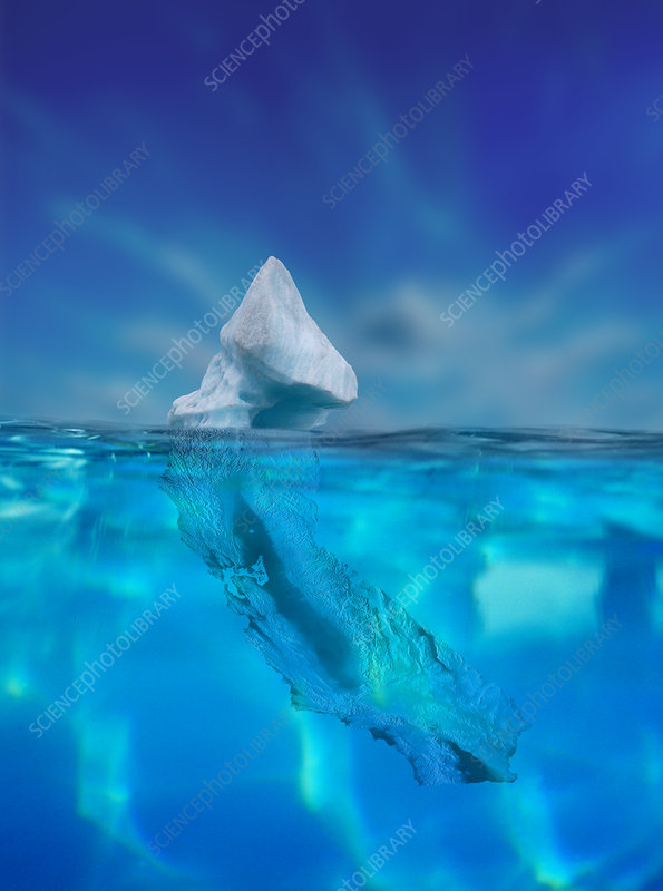 Iceberg California, illustration