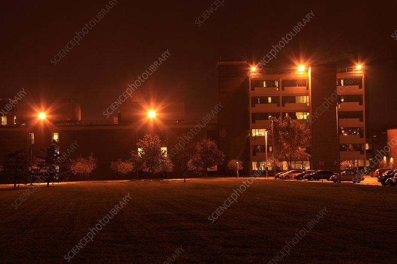 Sodium Vapour Lights on College Campus