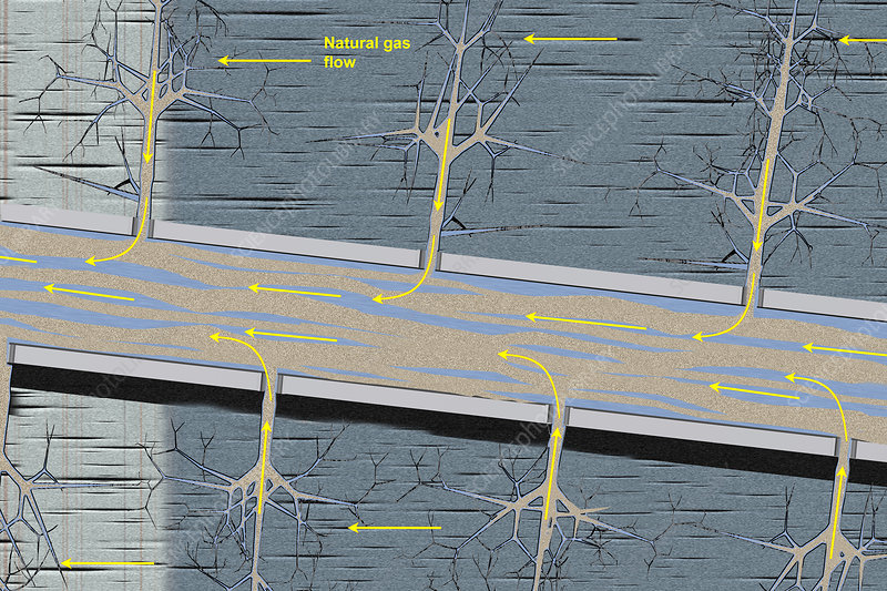 Fracking, illustration
