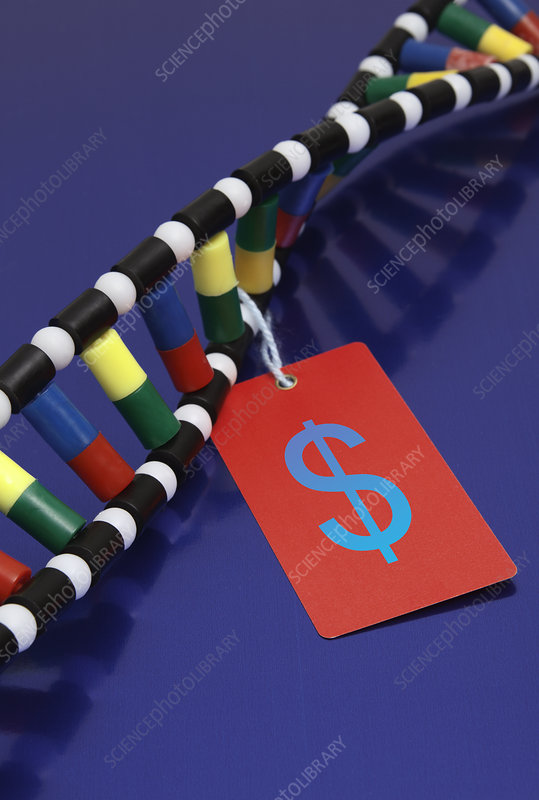 DNA Double Helix with Price Tag