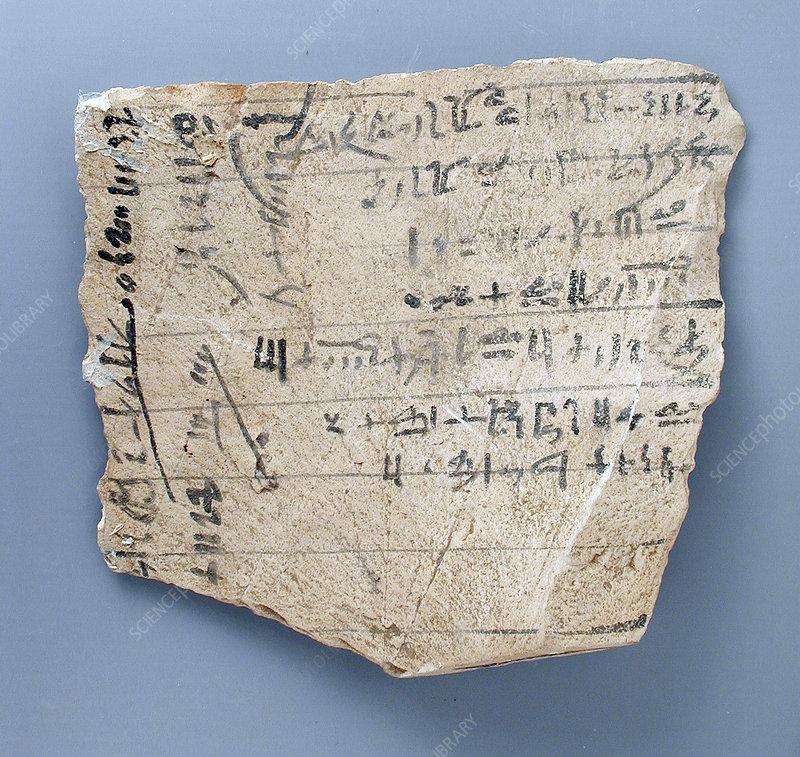 Egyptian Limestone Tablet, Rental of Ax