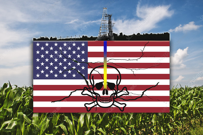 Fracking in the U.S., illustration