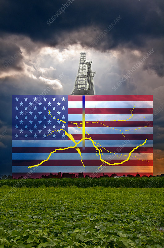 Fracking in the U.S., illustration