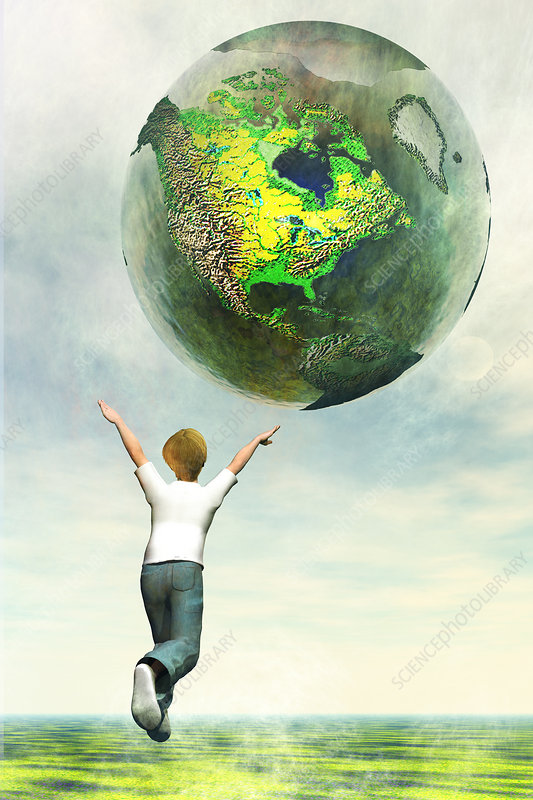 World at One's fingertips, illustration