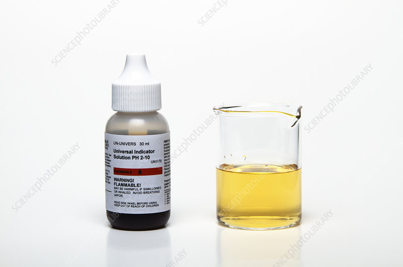 Universal Indicator in Distilled Water