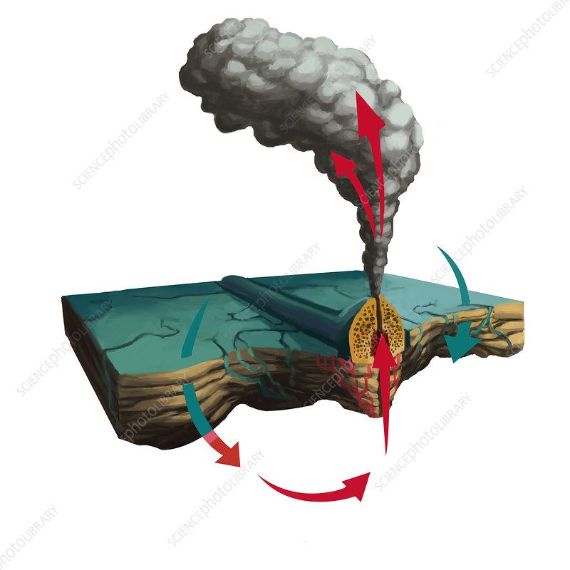 Hydrothermal Vent  Illustration  9202