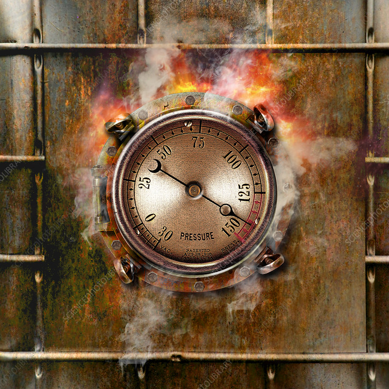 Pressure Gauge and Rust, illustration