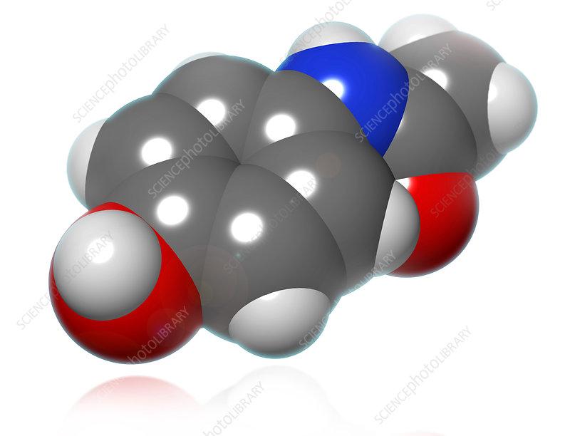 Acetaminophen Molecule, illustration