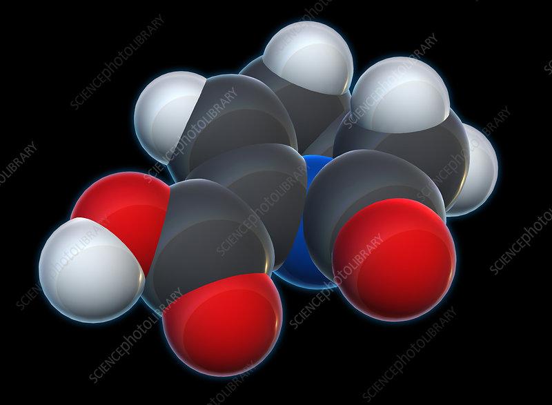 Carbapenem Molecular Model, illustration