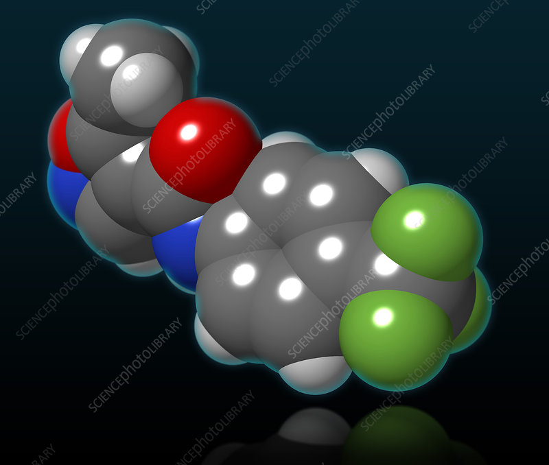 Leflunomide Molecular Model, illustration
