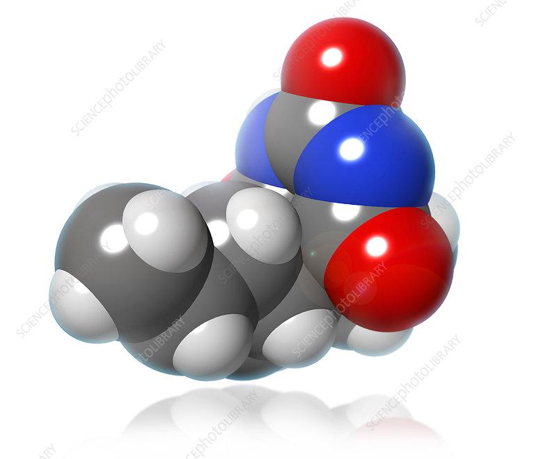 Pentobarbital Molecule, illustration