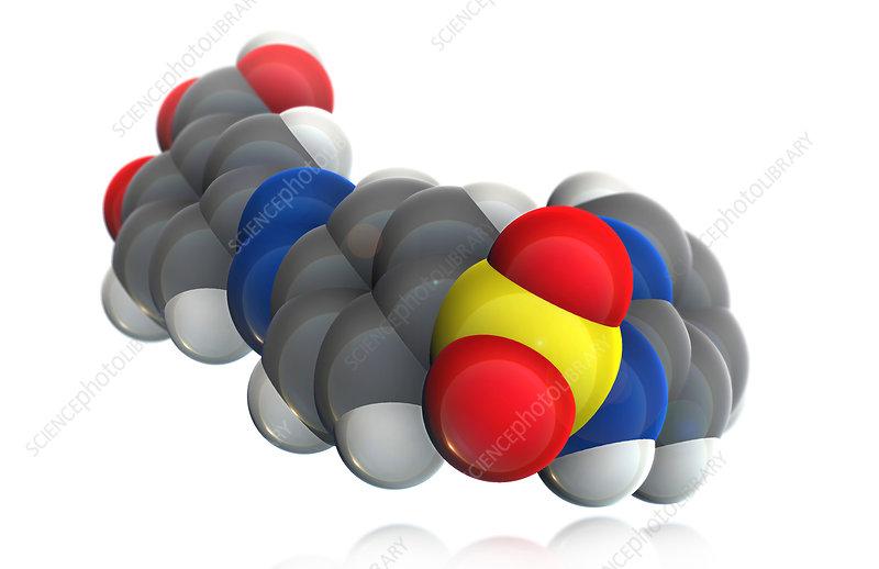 Sulfasalazine Molecule, illustration