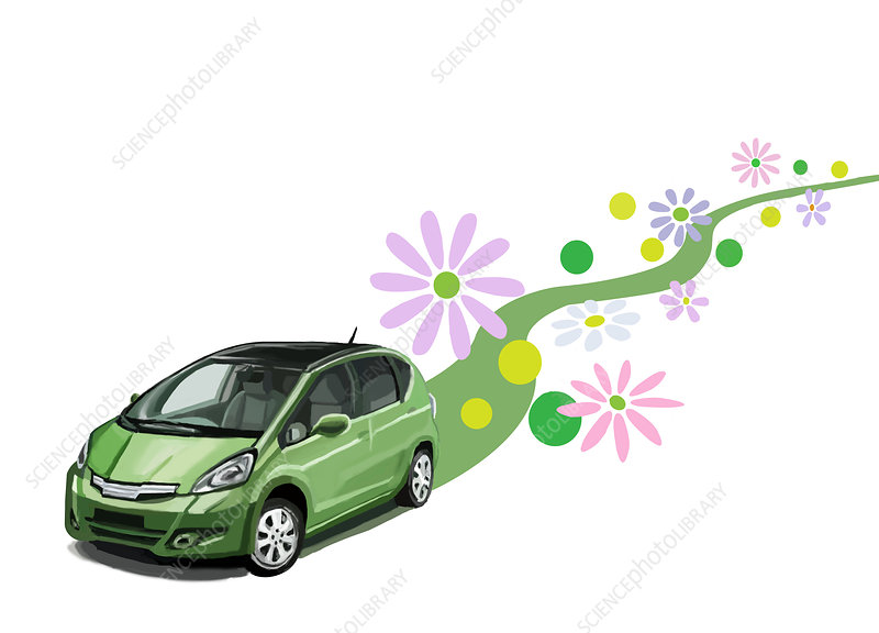Green Car, illustration