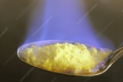 Burning Sulfur