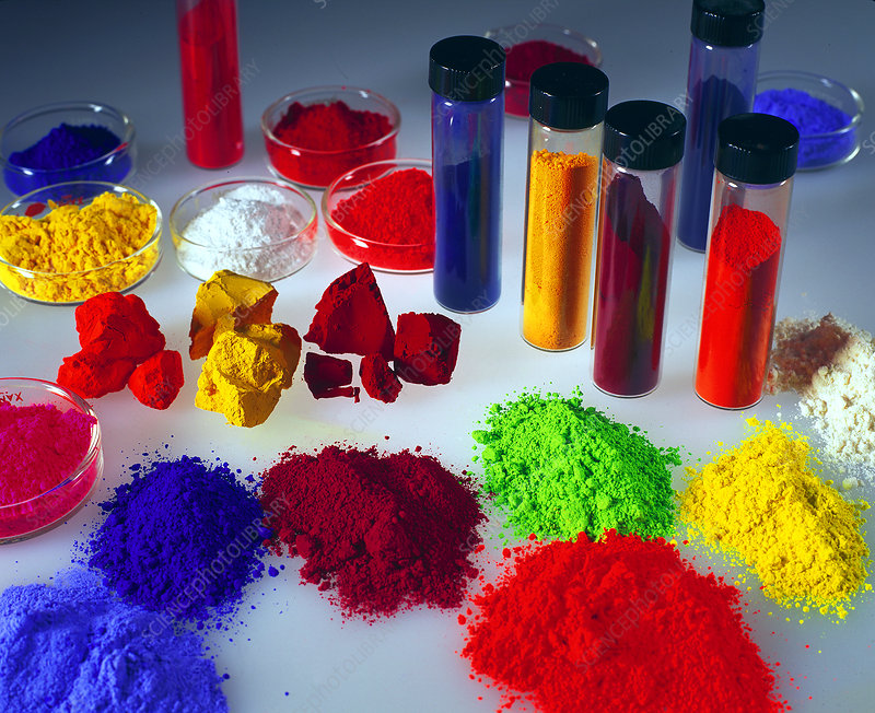 Brightly Coloured Pigments
