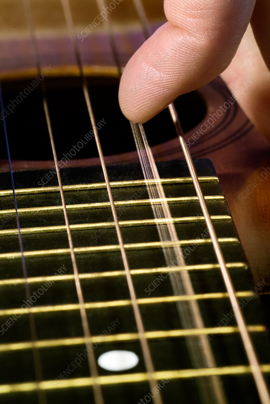 Vibrating Guitar String